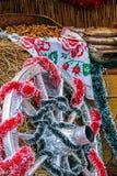Decorações específicas e rústicas do Natal Imagem de Stock Royalty Free