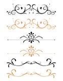 Decorações florais decorativas da página ilustração stock