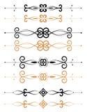 Decorações florais decorativas da página ilustração do vetor