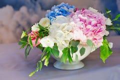 Decorações florais do casamento Imagem de Stock