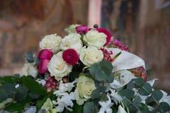 Decorações florais na cerimônia de casamento Foto de Stock