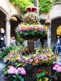 Decorações florais para o festival do Corpus Christi Fotografia de Stock Royalty Free