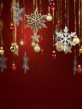 Decorações glittery dadas forma diferentes do Natal fotografia de stock
