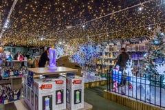 Decorações iluminadas do Natal Foto de Stock Royalty Free