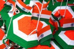 Decorações indianas da bandeira Imagem de Stock
