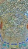 Decorações interiores do madraseh velho em Isfahan, Irã Imagem de Stock Royalty Free