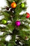 Decorações isoladas da Natal-árvore 2016 anos novos felizes Imagem de Stock Royalty Free