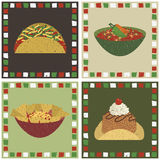 Decorações mexicanas do alimento Imagens de Stock