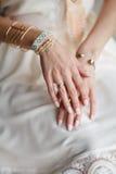 Decorações nas mãos Fotografia de Stock