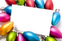 Decorações Notecard do Natal Foto de Stock Royalty Free