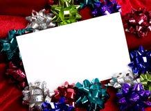 Decorações Notecard do Natal Imagem de Stock Royalty Free
