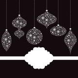 Decorações ornamentado do Natal Fotografia de Stock Royalty Free