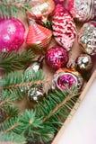Decorações para árvores de Natal imagem de stock royalty free
