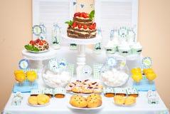 Decorações para o aniversário das crianças Imagens de Stock