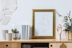 Decorações para o interior branco na moda Fotos de Stock