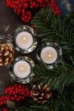 Decorações para o Natal Imagem de Stock Royalty Free