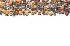 Decorações para a roupa - botões bonitos para os roupas de grife Foto de Stock