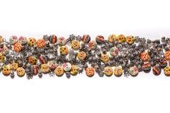 Decorações para a roupa - botões bonitos para os roupas de grife Fotografia de Stock