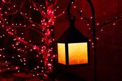 Decorações roxas e amarelas do feriado Imagens de Stock