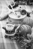 Decorações tradicionais do Natal Foto de Stock