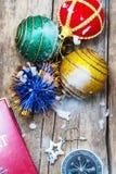 Decorações tradicionais do Natal Imagens de Stock Royalty Free