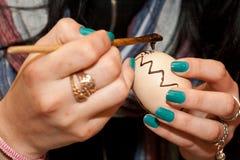 Decorações tradicionais romenas dos ovos de easter Fotografia de Stock Royalty Free