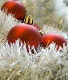 Decorações vermelhas #2 do Natal Foto de Stock