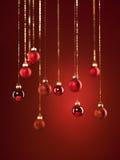 Decorações vermelhas do Natal Imagens de Stock