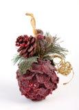 Decorações vermelhas do Natal na forma dos cones Imagens de Stock Royalty Free