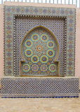 Decoración árabe del mosaico en la fuente foto de archivo