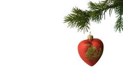 Decoración 1 del árbol de navidad Imagenes de archivo