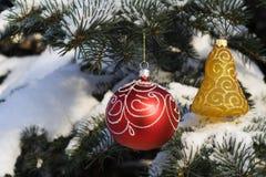 Decoración 12 del árbol de navidad Imagenes de archivo