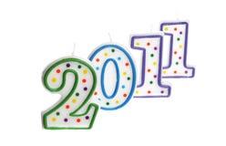 Decoración 2011 del Año Nuevo Foto de archivo libre de regalías
