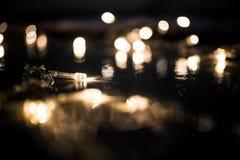 Decoración abstracta de la iluminación de la falta de definición en la fiesta de Navidad Contexto T Fotografía de archivo