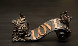 Decoración adornada clásica de la voluta del amor Fotos de archivo libres de regalías