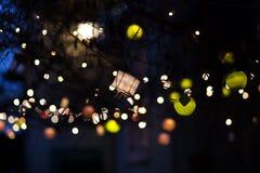 Decoración al aire libre del árbol del ` s del Año Nuevo Foto de archivo