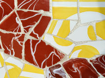 Decoración amarilla y marrón del mosaico Fotografía de archivo libre de regalías