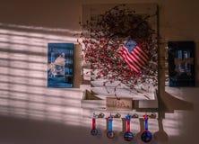 Decoración americana de la pared Fotos de archivo libres de regalías