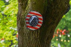 Decoración americana en el parque en un festival fotos de archivo
