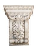 Decoración arquitectónica de mármol hermosa con los elementos florales Imagen de archivo