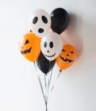 Decoración asustadiza de los balones de aire para el partido de Halloween Fotografía de archivo libre de regalías