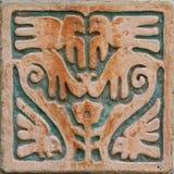 Decoración azteca de la pared del estilo Imágenes de archivo libres de regalías
