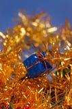 Decoración azul de la Navidad Foto de archivo libre de regalías
