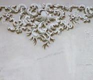 Decoración barroca 2 de la pared del detalle del ornamento Imagen de archivo