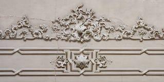 Decoración barroca del techo del detalle del ornamento Fotos de archivo