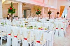 Decoración blanca de la boda Imagenes de archivo