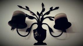 Decoración blanco y negro de la vela Fotografía de archivo
