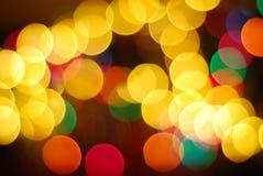 Decoración borrosa del árbol de navidad fotos de archivo