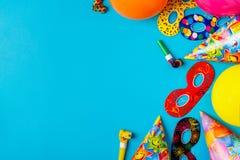 Decoración brillante para un cumpleaños, un partido, un festival o un carnaval imagen de archivo libre de regalías