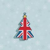 Decoración británica de la Navidad stock de ilustración